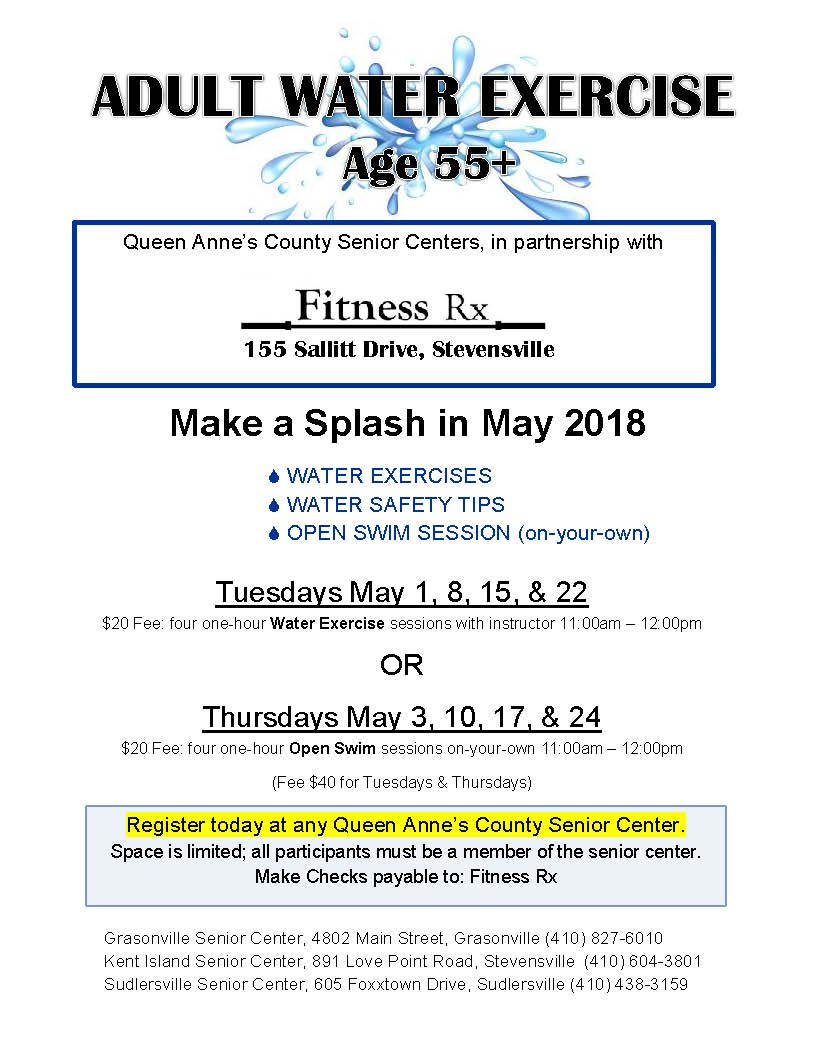 2018_5 Water Exercise flyer _