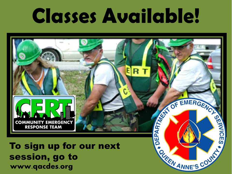 CERT Classes Avail