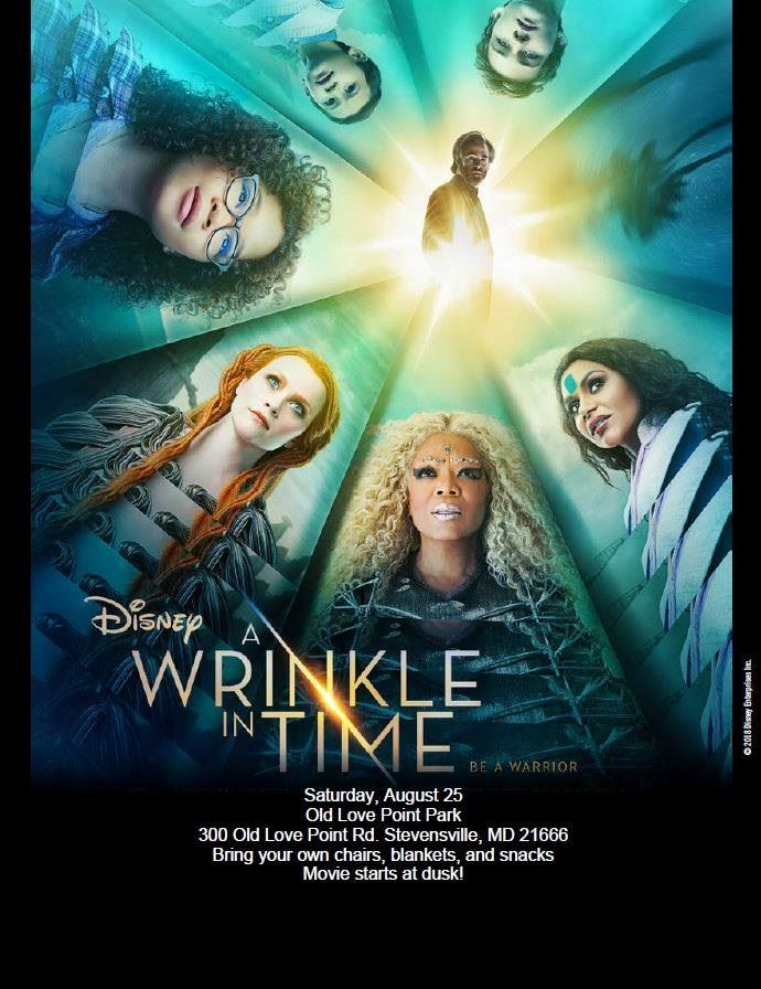 A Wrinkle in Time movie flyer
