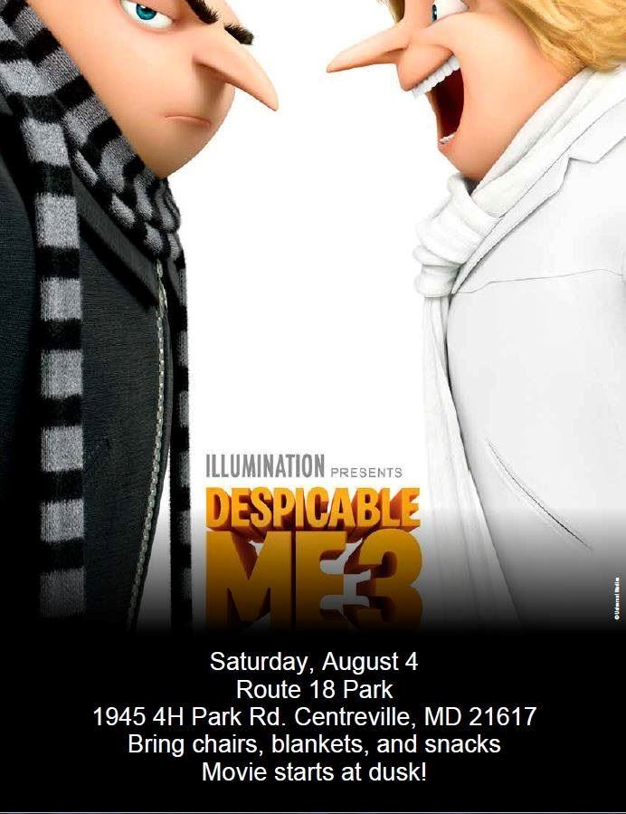 Despicable Me 3 Movie flyer