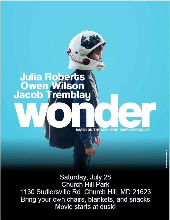 Wonder movie flyer
