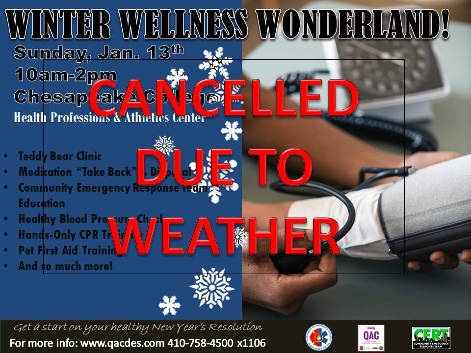 Winter wellness wonderland blood pressure - CANCELLED