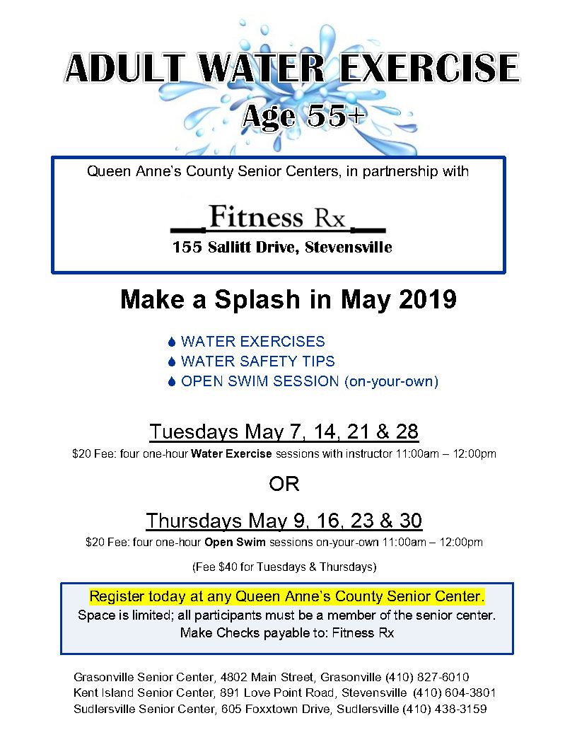 05 - May 2019 Water Exercise flyer _