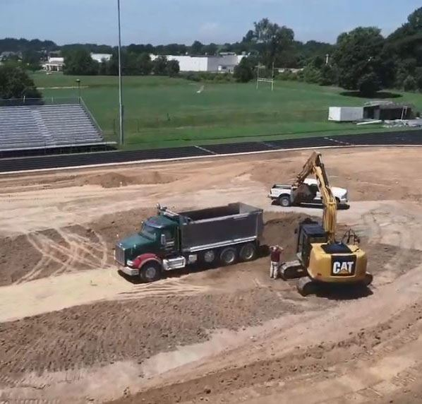 artificial turf construction SPOTLIGHT