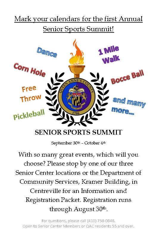 Senior Sports Summit Flyer