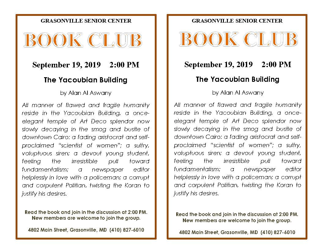 9 September Book Club flyer_