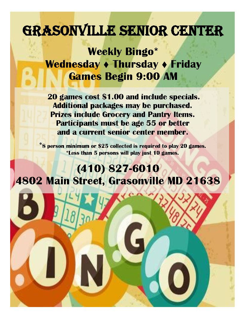 weekly bingo flyer