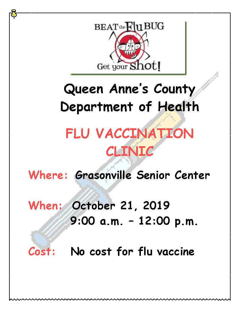 Flu Clinic - Grasonville Senior Center