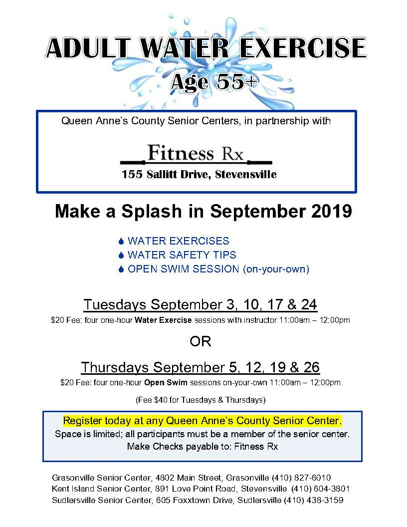 09 - September 2019 Water Exercise flyer _
