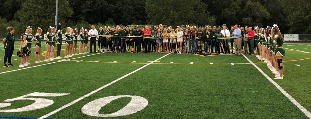 QACHS Turf Field ribbon cutting Websize