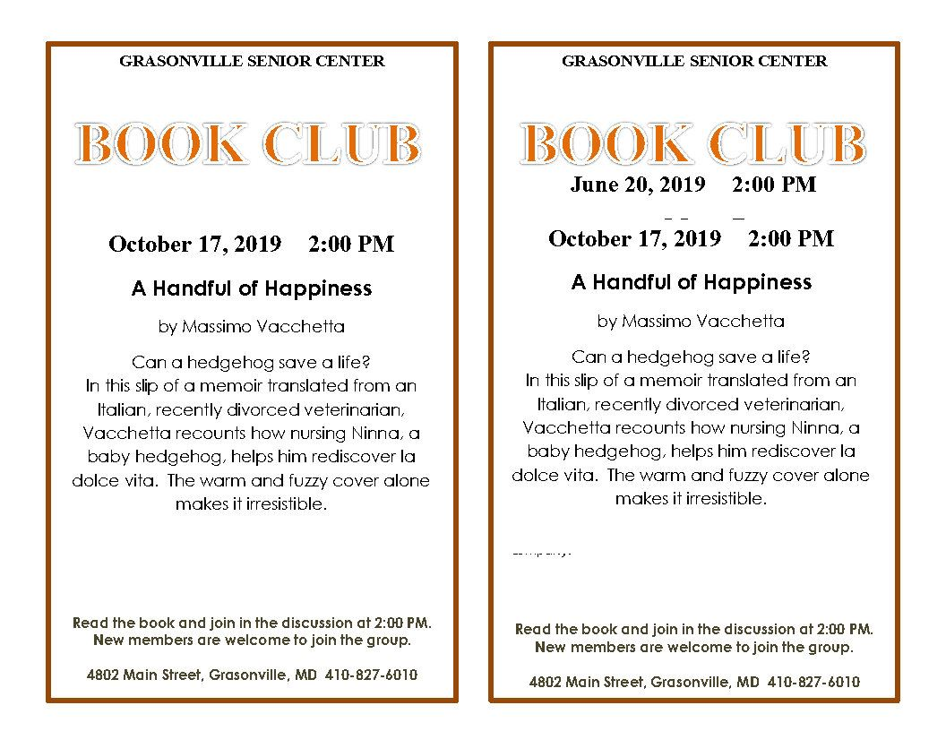 10 October Book Club flyer_