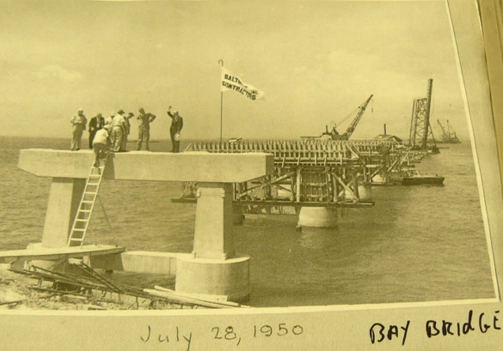 Bay Bridge Construction July 28, 1950