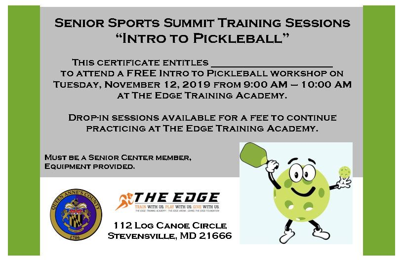 Pickleball Training Sessions - 1 per page