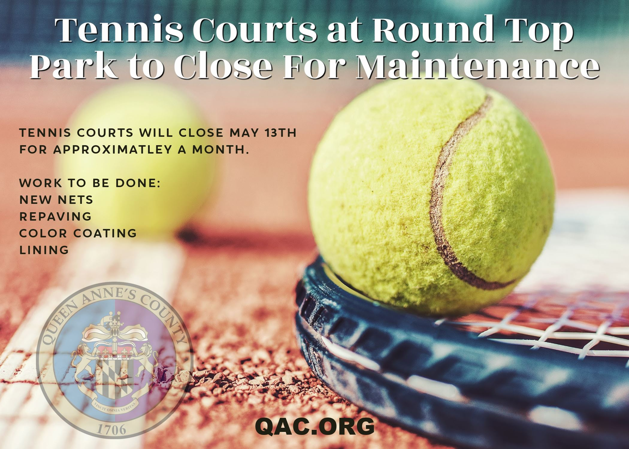tennis courts to close