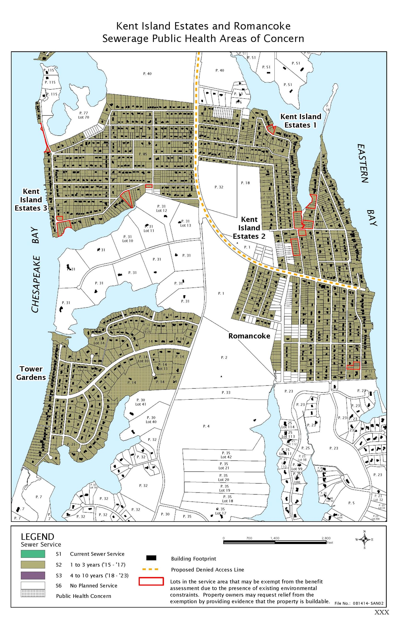 Kent Island Estates and Romancoke Sewerage Public Health Areas of Concern