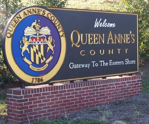 Queen Anne's County Welcome Sign