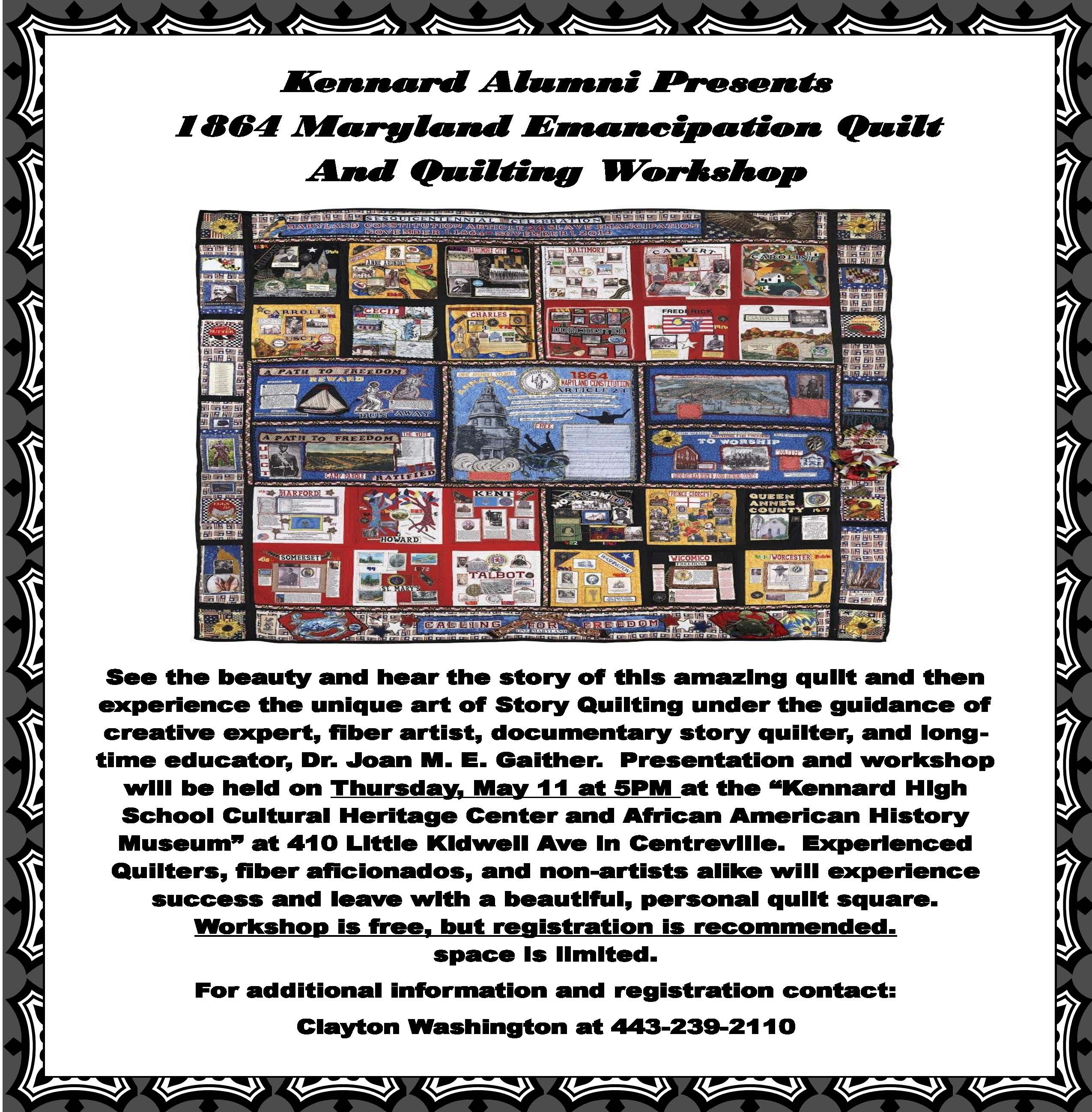 Quilt Exhibit Flyer