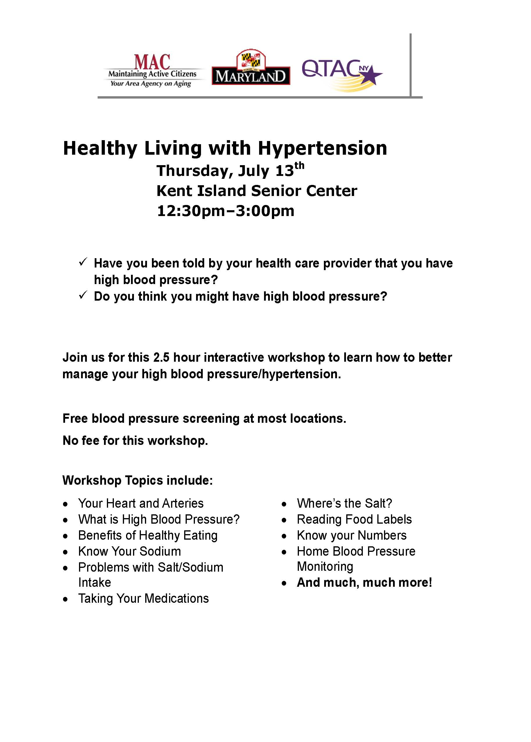 KISC Healthy Living with Hypertension