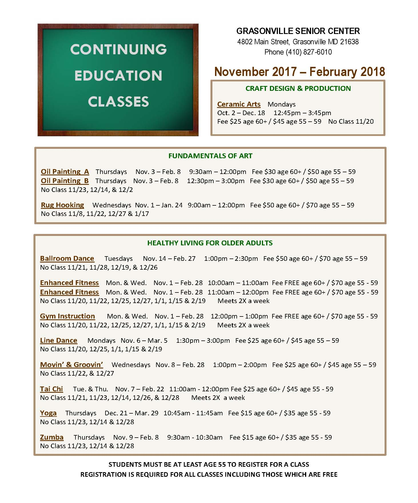2017_11 GSC College Classes