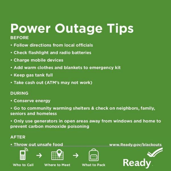 Power Outage Tips