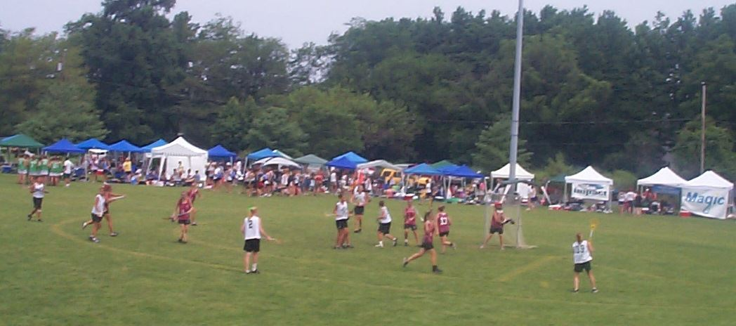 Lacrosse tournament w tents