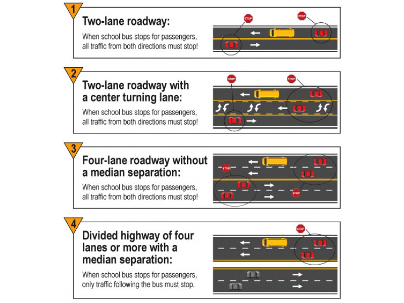 MVA when to stop for buses