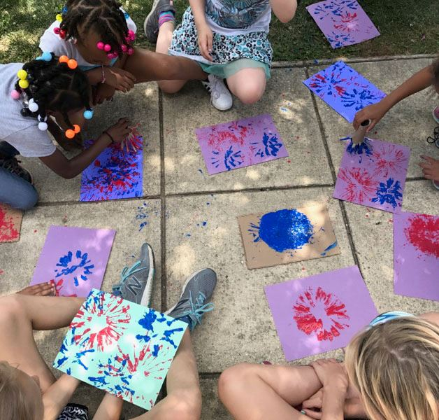 Kids Create Art at Matapeake Clubhouse