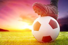 football-soccer-ball-kickoff-game-sunset-38302251